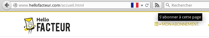 Flux RSS barre navigateur firefox